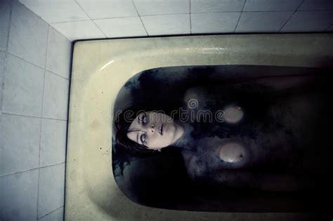scary bathtub scary nude girl in bath stock photo image of bathtub