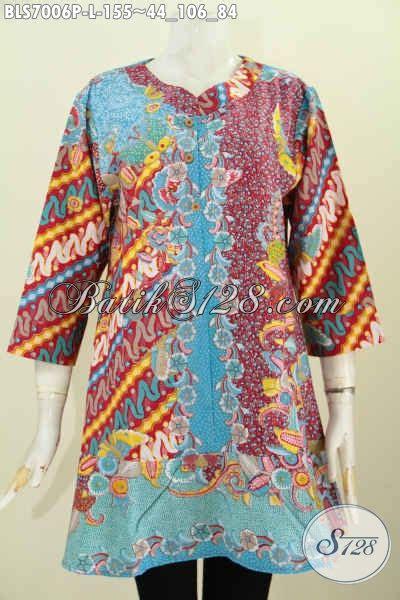 Blouse Kosibo Motif Print Cewek Blus Koshibo Wanita Lucu Murah 2 model baju batik wanita kerja modern 2017 blus kerah paspol modis motif bagus proses printing
