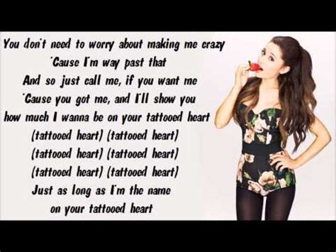 tattooed heart spanish lyrics ariana grande tattooed heart karaoke instrumental with