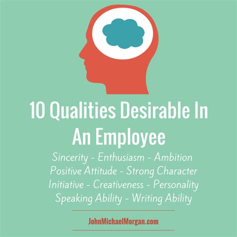 10 qualities desirable in an employee michael