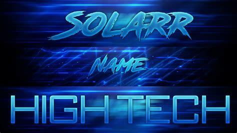 Free Light Blue High Tech Banner Template Photoshop Cs6 Youtube Banner Template Photoshop