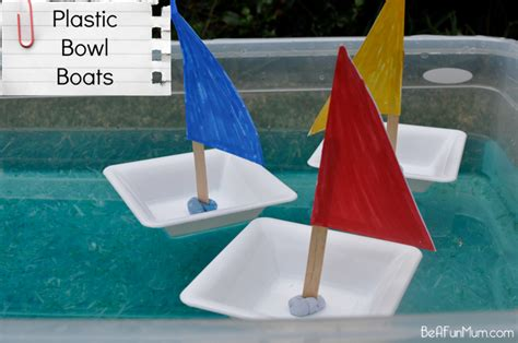 How To Make A Small Paper Boat - plastic bowl boat be a