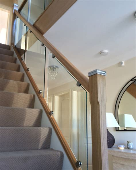 glass banisters uk glass on bracket staircases the stair glass company