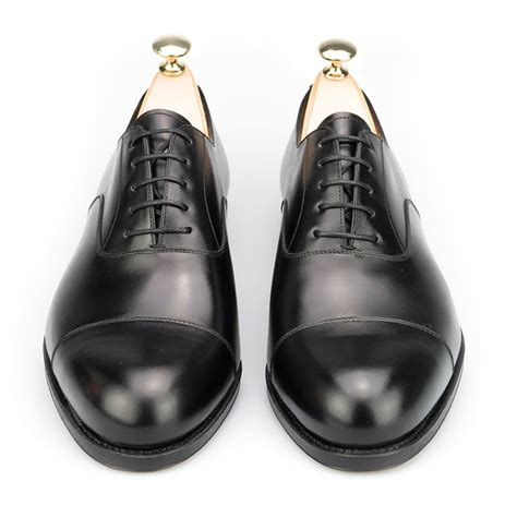 how to lace oxford shoes lace up oxfords toe cap shoes in black calf carmina