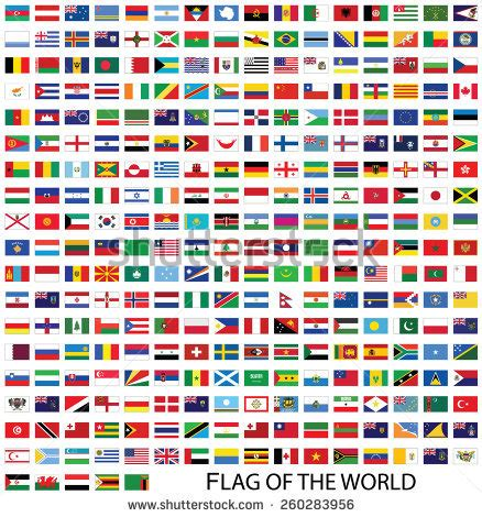 flags of the world without names round world flags clipart 66