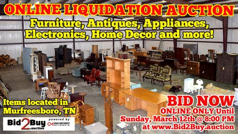 furniture electronics appliances liquidation auction