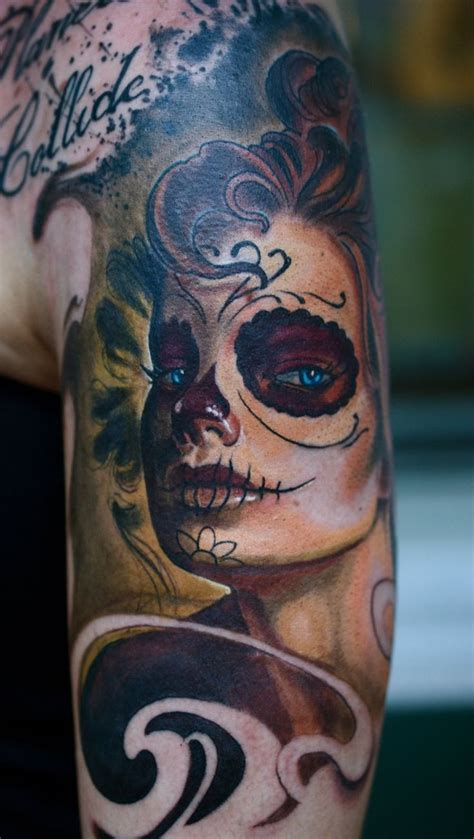 sugar skull woman tattoo 310 best sugar skull images on