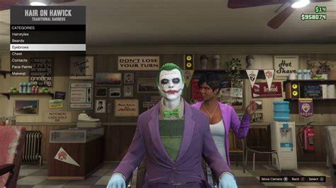 gta v online facial hair color grand theft auto 5 online the dark knight joker makeup