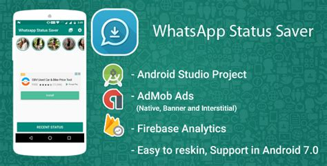 whatsapp ad themes download whatsapp status downloader and saver with admob ads