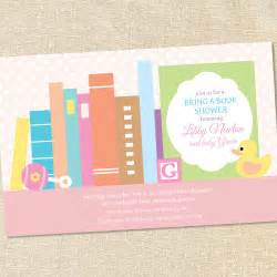 sweet wishes stock the library books baby shower invitations printed digital file also