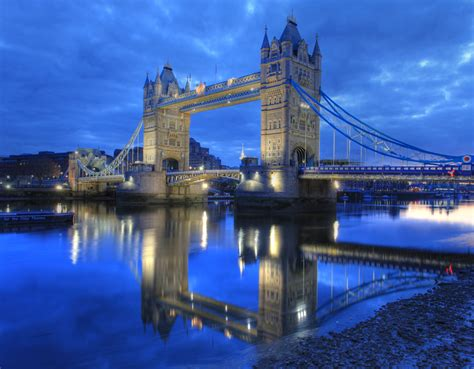 thames river of london london bridge tower bridge reflection on the river