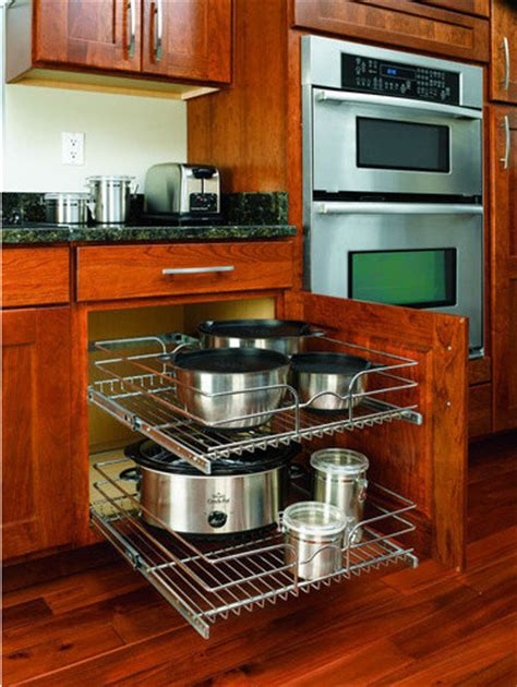 Kitchen Cabinet Storage Shelves Rev A Shelf In Cabinet Chrome Cabinet Organizer Traditional Kitchen Drawer Organizers By