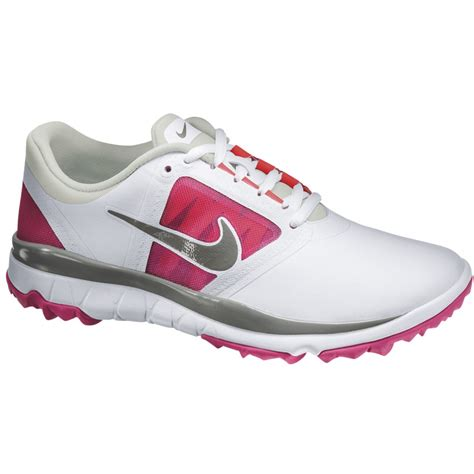 nike womens fi impact golf shoes 2014 white pink