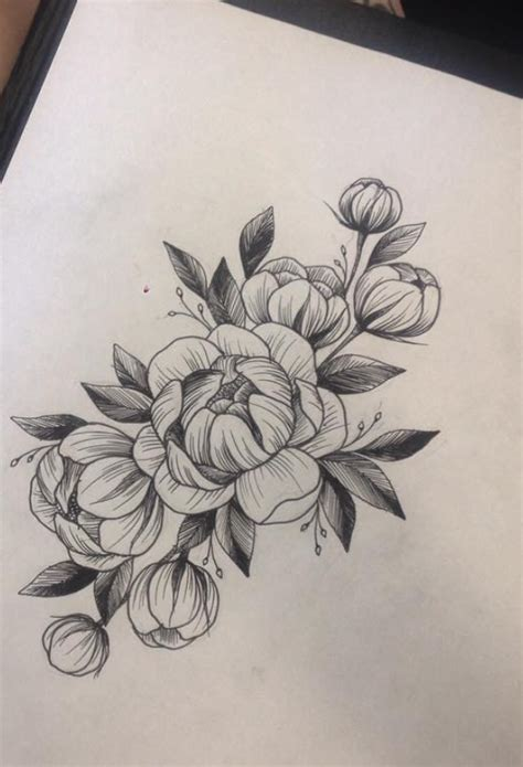 peony tattoo design pin by vanesa ortega on mandalas flores