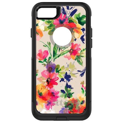 Floral Iphone 6 6s 7 8 X Plus otterbox defender for iphone 6 6s 7 8 plus x pink purple