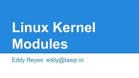tutorial linux kernel module linux kernel modules