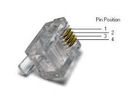 4 pin rj11 telephone cable connector jack