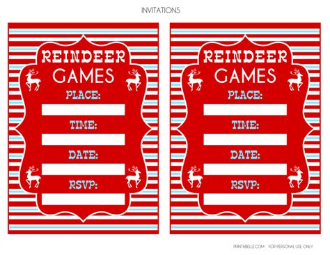 printable reindeer games free reindeer games party printables from printabelle