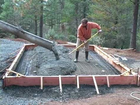 How To Pour A Concrete Slab For A Garage by Pouring A Concrete Slab Foundation