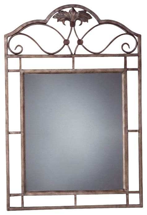 wrought iron bathroom mirror rectangular console mirror w wrought iron fra