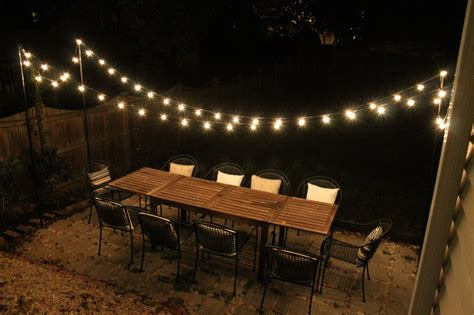 lights on patio diy string light patio house elizabeth burns