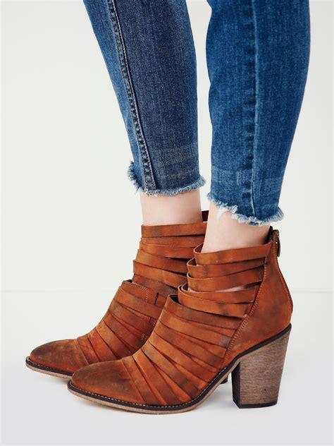 free hybrid heel boot free hybrid heel boot in brown lyst