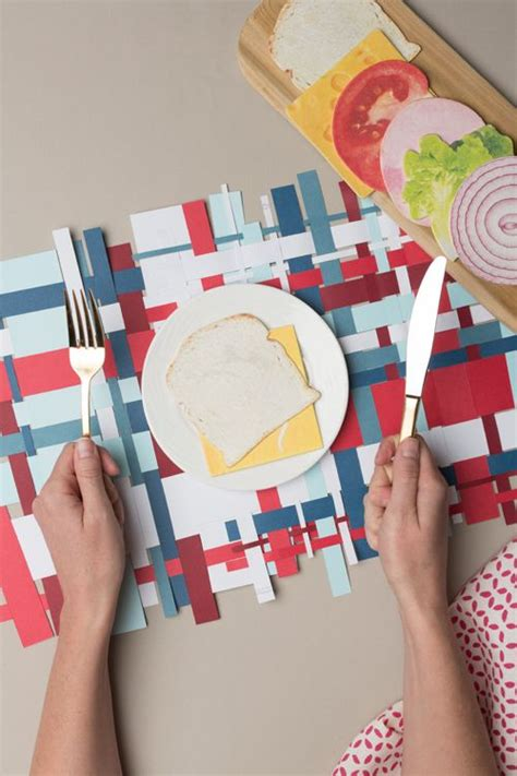 Craft Paper Placemats - 4th of july paper woven placemat brought to you courtesy