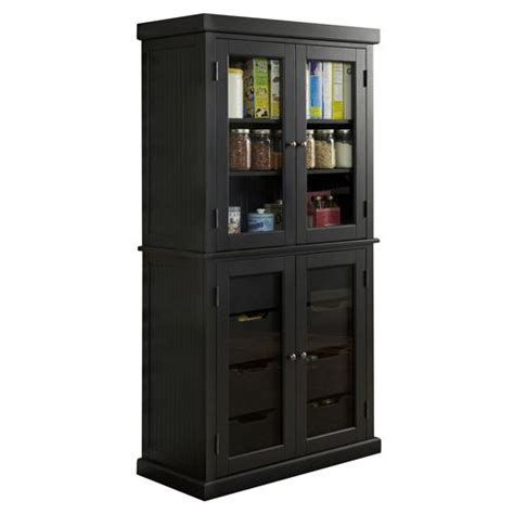 home styles 5003 64 americana china pantry in black