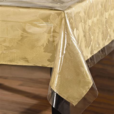 clear plastic table cover clear rectangle tablecover