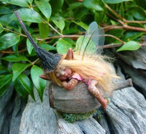 Handmade Fairies - sleeping forest figurines handmade fairies