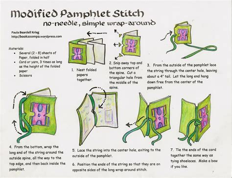 Make A Book Out Of Paper - modified phlet stitch for children playful