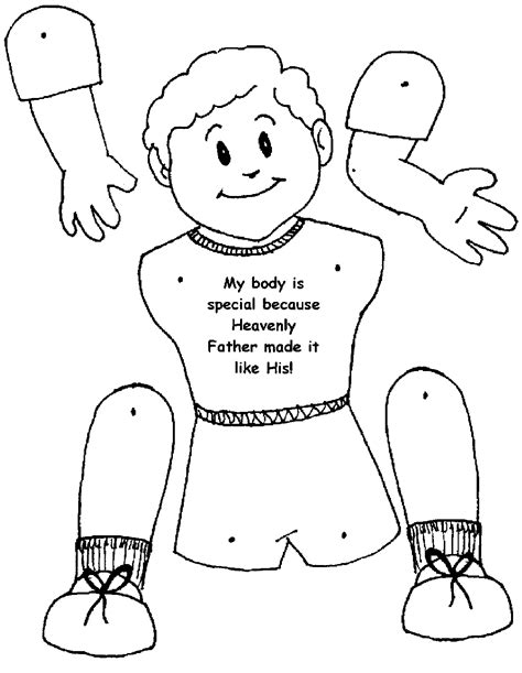 coloring page of boy body coloring home