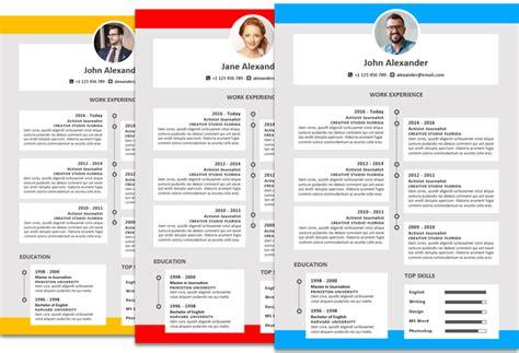 Microsoft Office Resumes Alexander Resume Template Timeline Colored Timeline Resume Template