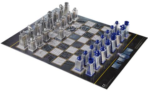 futuristic chess set doctor who lenticular animated chess set