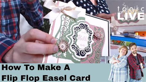 how to make a flip card tonic studios live no 21 how to make a flip flop easel