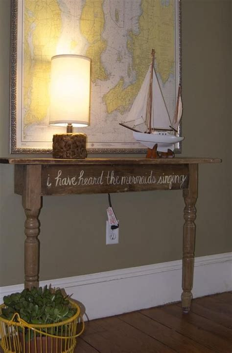 Narrow Changing Table Diy Table For A Small Hallway Minus The Mermaids Interior Designs I