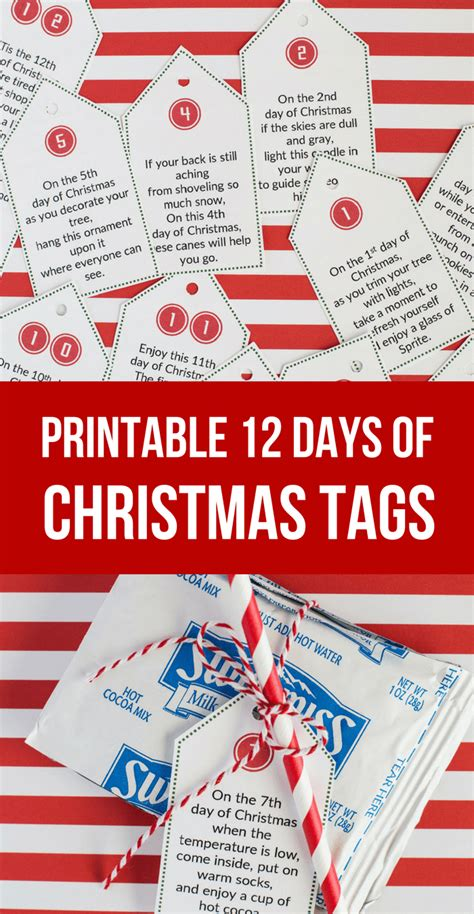 12 days of christmas gift tags easy 12 days of idea printables so festive