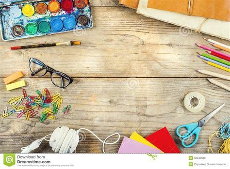 bureau d artiste bureau d un artiste photo stock image 50040986