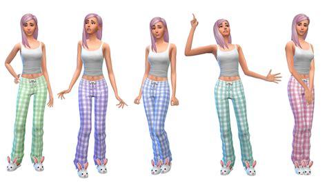 sims 4 pajamas my sims 4 blog plaid pajamas for females by nyloa