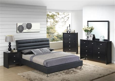 8284 carolina bedroom 5pc set in black by global w options