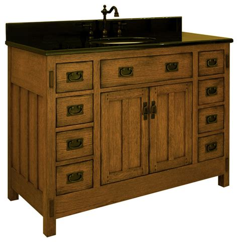 Craftsman Bathroom Vanity 48 Quot American Craftsman Single Vanity Traditional Bathroom Vanities And Sink Consoles San