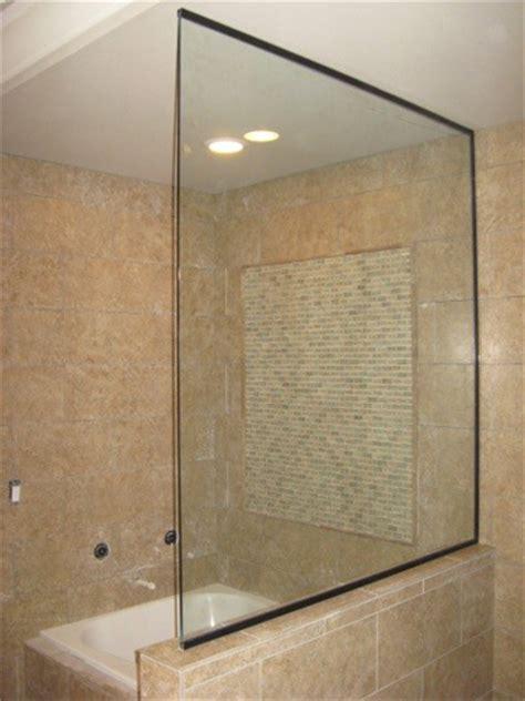 Half Glass Shower Half Shower Door The Half Shower Wickes Half