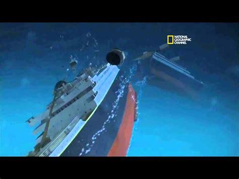 sinking ship animation titanic sinking animation youtube