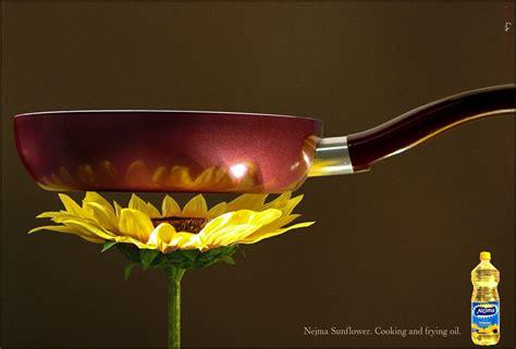 print advert  sunflower ads   world