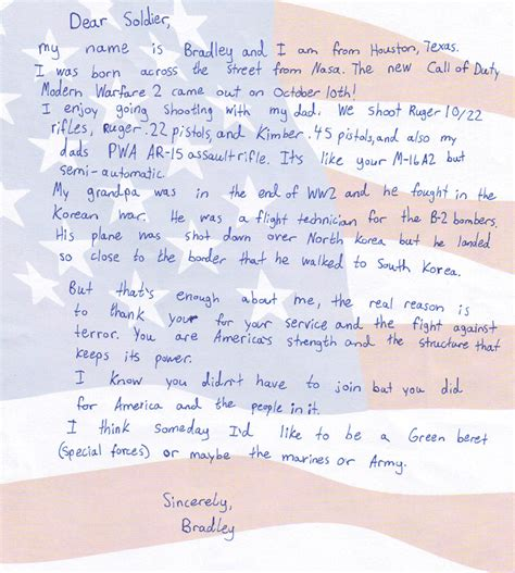 Letters To Troops