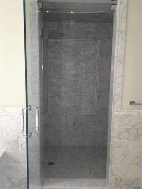 Marble Shower Jambs by Best Way To Handle Top Of Shower Curbs Tiling