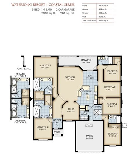 park square homes floor plans watersong resort by park square homes new homes and