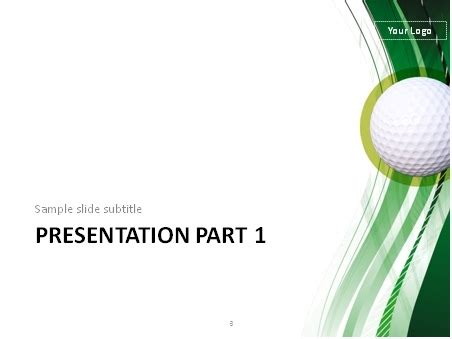 Download Golf Theme Powerpoint Template Golf Powerpoint Template