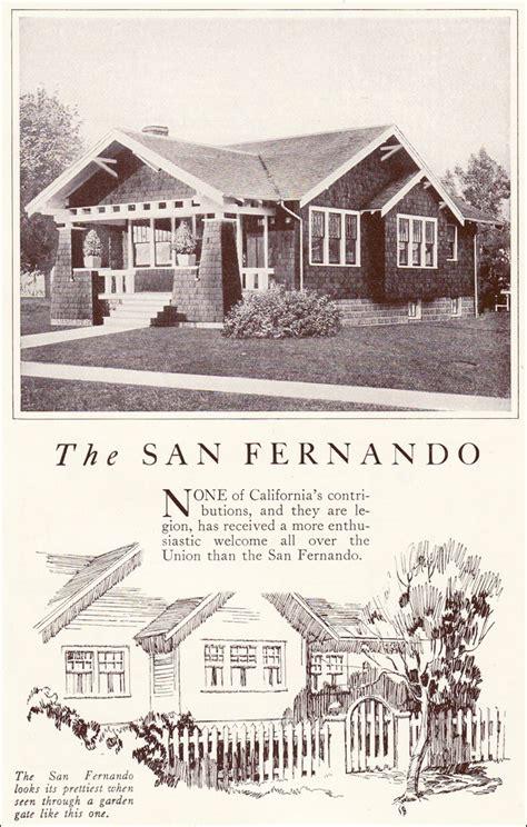 House Plans Craftsman Style 1922 San Fernando Craftsman Bungalow Lewis Manufacturing