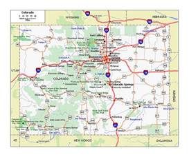 large us map with highways large roads and highways map of colorado state colorado